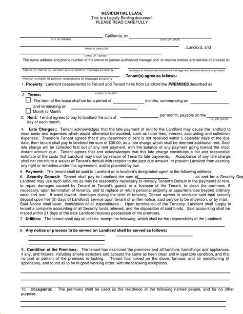california lease agreement template 13 california rental agreement form pay stub template