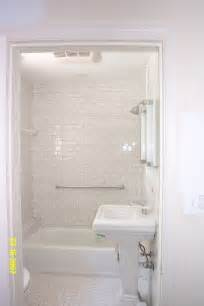 White Tile Bathroom Ideas All White Grey Grout Interiors To Love Pinterest