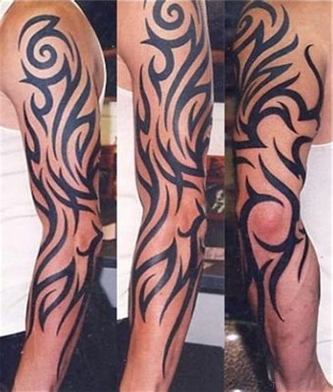 tribal tattoo full arm 53 graceful tribal tattoos on sleeve