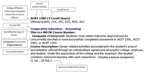 college course section number brookhaven college course description help screen