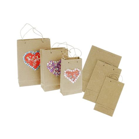 Decorative Paper Bags Craft - decorative collage kraft bags 3 pack display boxes and