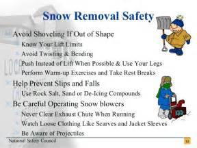 Cool Garage Ideas Snow Removal Safety Tips
