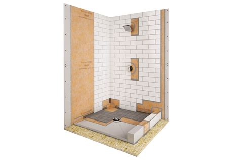 bathtub cutaway schluter 174 kerdi shower kit bath and taps
