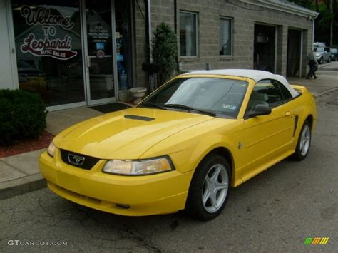 chrome yellow 1999 chrome yellow ford mustang gt convertible 33236610