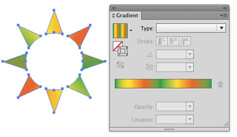 illustrator pattern array adobe illustrator how to fill radial array with gradient