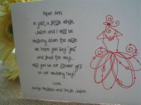 Flower Poem Wedding by Will You Be My Flower Card Poem Ii By Gabriellekearney
