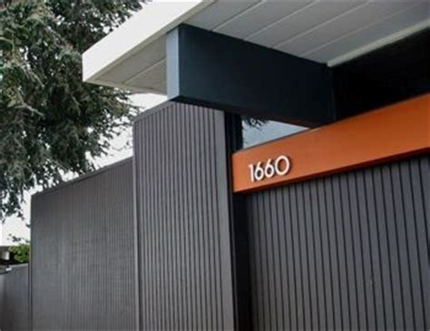 brown black exterior with orange stripe eichler