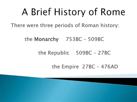 a brief history of a brief history of rome
