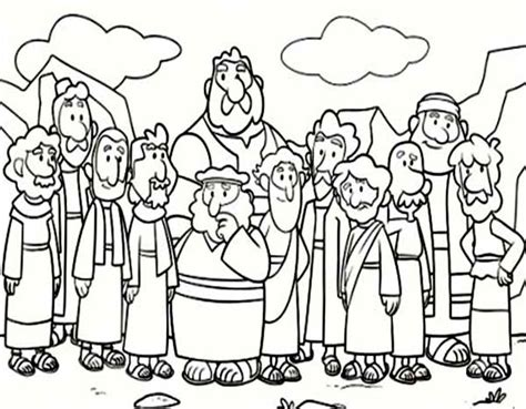 disciples free colouring pages
