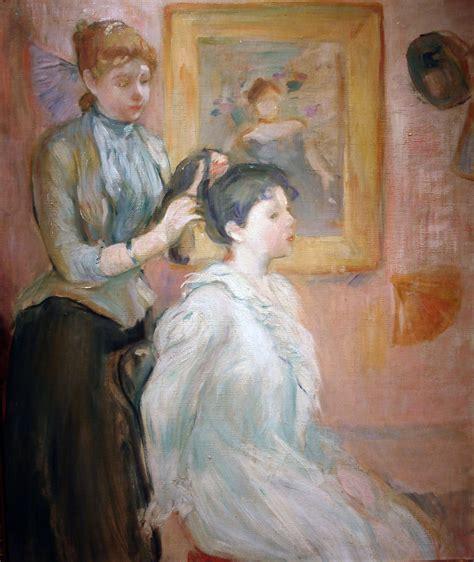 La Berthe Morisot by La Coiffure El Peinado Morisot Berthe Pauline