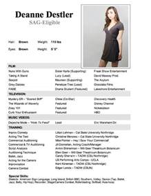 How To Format An Acting Resume 7 Best Images About Child Actor R 233 Sum 233 On Pinterest