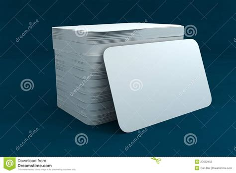Business Card Template Render by 3d Business Card Render Royalty Free Stock Photo Image