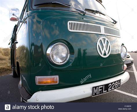volkswagen front close  vintage vw camper van vehicles  stock photo  alamy