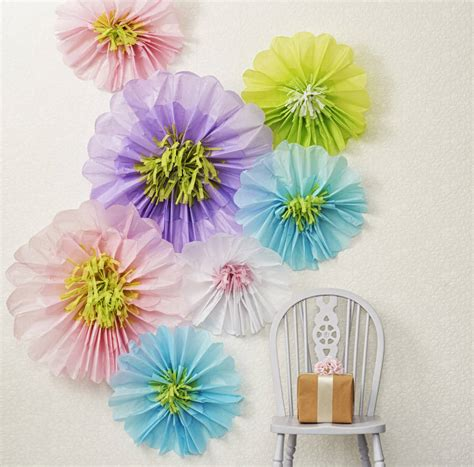 floral decorations giant paper flowers for wedding backdrop by just add a