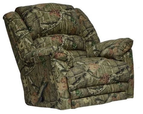 camo massage recliner duck dynasty yosemite chaise rocker recliner with heat and