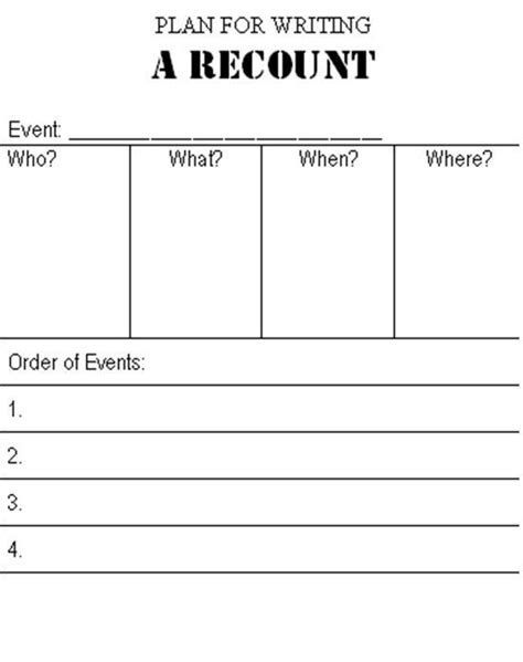 recount template 25 best ideas about recount writing on