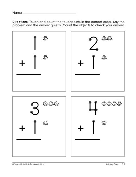 touch math digit addition worksheets math doubles