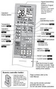 Mitsubishi Electric Heating And Cooling Manual Sg10a Remote Mitsubishi Electric