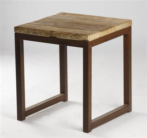 Wood Side Table Modern Rustic Reclaimed Wood Side End Table Kathy Kuo Home
