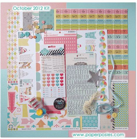 Paper Kit For - paper posies october 2012 scrapbook kit release