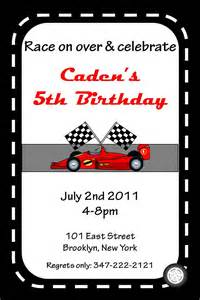 5 best images of race car invitations printable race car birthday invitations printable race