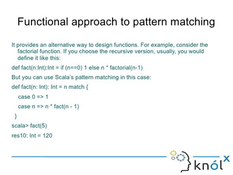 scala pattern matching empty seq introducing pattern matching in scala