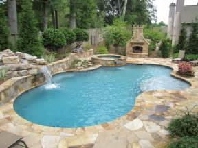 atlanta pool builder freeform in ground swimming pool photos - Backyard Pools