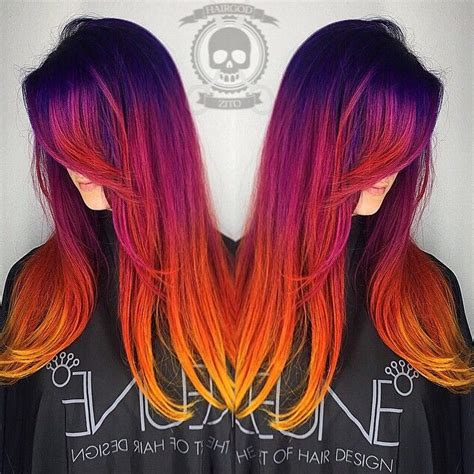 sunset hair color sunset hair is the most beautiful ombre hair tint we ve