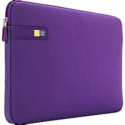 case logic laps 116 purple carrying case sleeve for 16