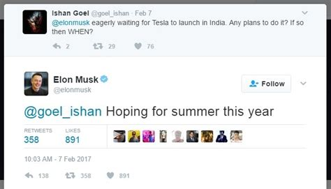 elon musk india tesla all set to enter india by summer 2017