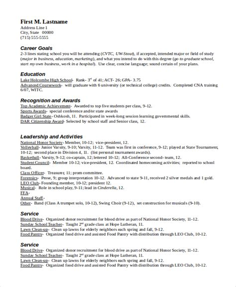 scholarship resume exle best resumes