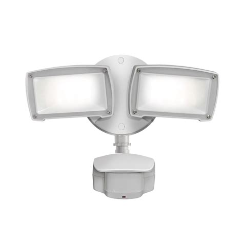 utilitech pro led motion activated flood light shop utilitech pro 180 degree 2 head white led motion