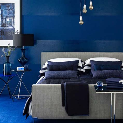 cobalt blue bedroom blues