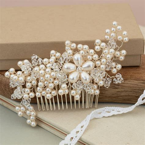 Vintage Bridal Pearl Hair Comb by Vintage Pearl Bridal Hair Comb By Jewellery Made By