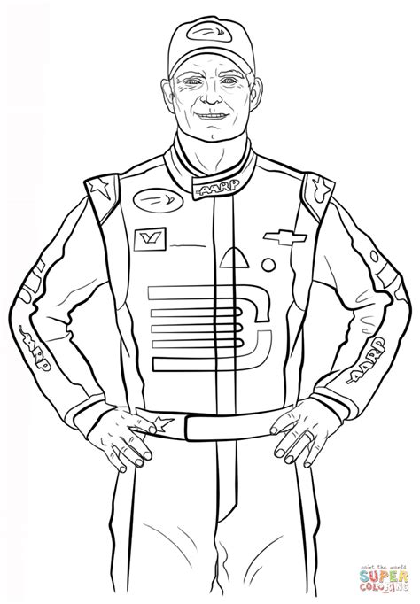 dale sr coloring coloring page coloring pages