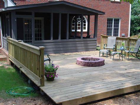 pit built into deck pit built into wood deck deck design and ideas