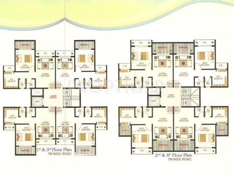 610 sq ft 1 bhk floor plan image gaj avenue available 610 sq ft 1 bhk 1t apartment for sale in shree enterprises
