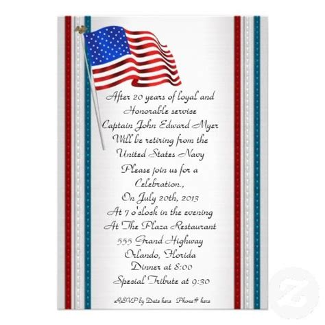 military retirement party invitation military retirement