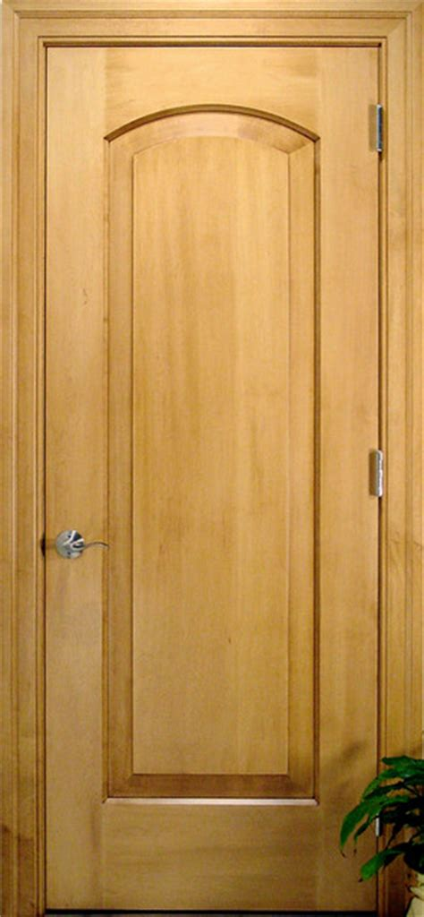 Arch 1 Panel Solid Wood Maple Door Traditional Maple Interior Door