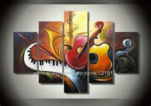 Music Themed Wall Decor Abstract Art Ideas Canvas Wallpaper