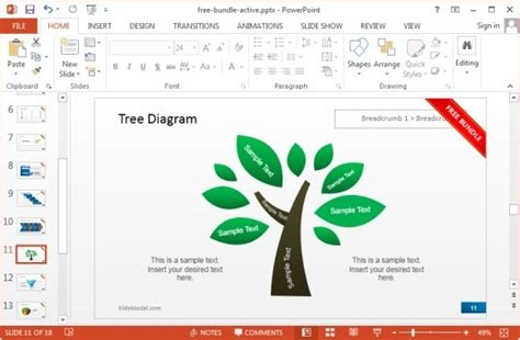 powerpoint templates free download tree slidemodel offers free bundle for powerpoint presentations