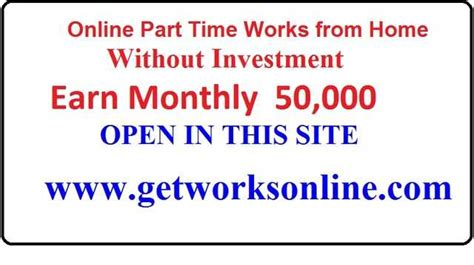 online part time jobs from home without investment part time online jobs without investment and registration
