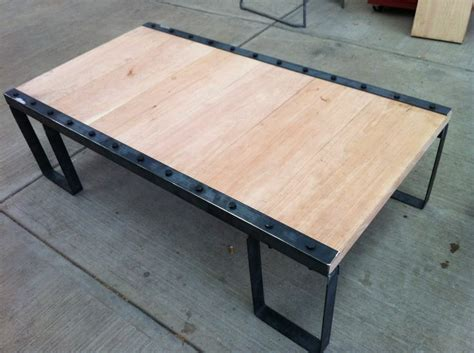 mesa de centro tipo industrial madera hierroathotmailcom
