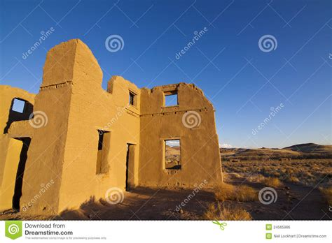 adobe ft adobe ruins at fort churchill royalty free stock image image 24565986