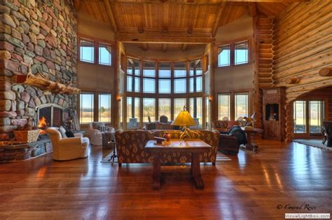 Luxury Log Cabin Homes For Sale log home tour whitefish mt estate
