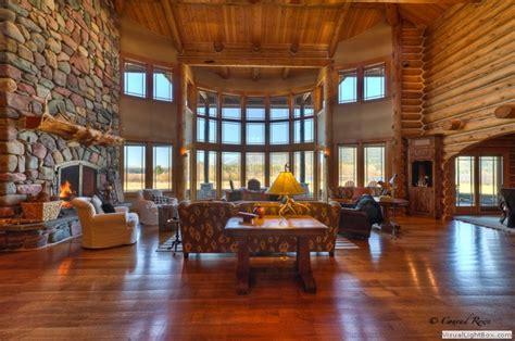 Blue Ridge Dining Room by Log Home Tour Whitefish Mt Estate