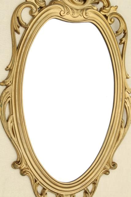 rococo patterned double wall glass cinderella french brocante style vintage wall mirror gold