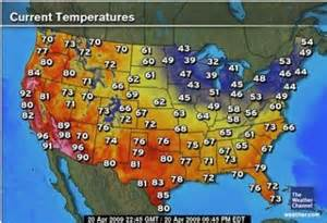 us map by weather heat wave in the western united states indicates cooling