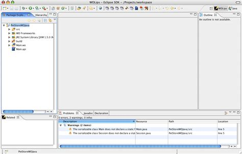 java tutorial xcode import an xcode project into wolips documentation