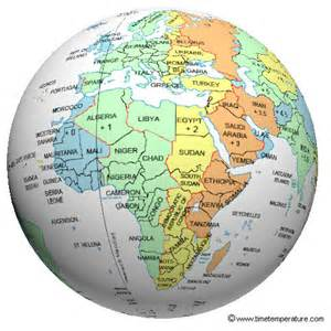 map africa time zone